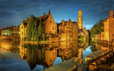 Garden Poster Bridges Bruges Canal, Belgium
