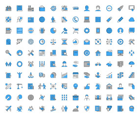 Modern line vector icons for web