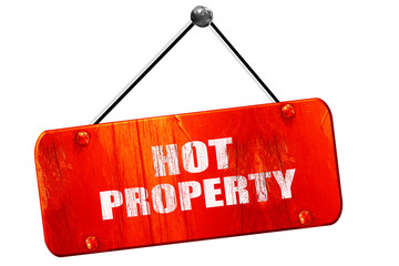 hot property, 3D rendering, vintage old red sign