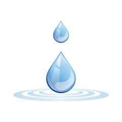 Pure Blue Drop Water