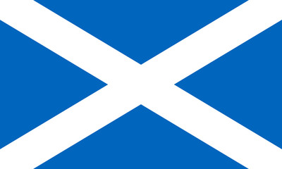 Scotland flag, Bratach na h-alba,  Flag of Scotland, Scottish flag, Saint Andrew's cross, National flag of Scotland standard proportion and color mode RGB Wall mural