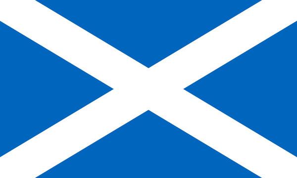 Scotland flag, Bratach na h-alba,  Flag of Scotland, Scottish flag, Saint Andrew's cross, National flag of Scotland standard proportion and color mode RGB