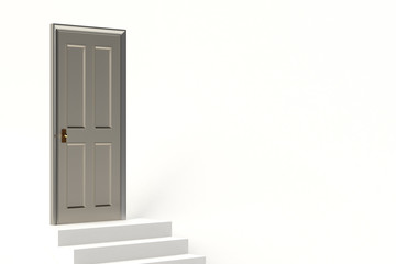 3D rendering of door and stairs