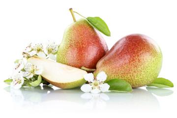 Birnen Birne Früchte Obst Freisteller freigestellt isoliert