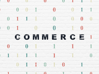 Business concept: Commerce on wall background