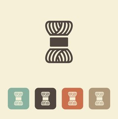 Skein of yarn for knitting. Vector icon