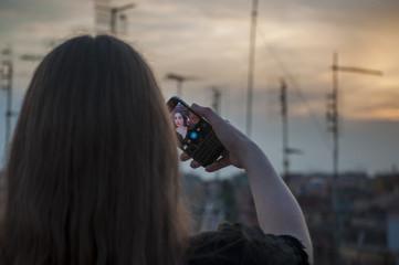 Selfie al tramonto