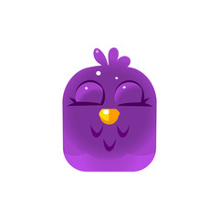 Purple Sleeping Chick Square Icon