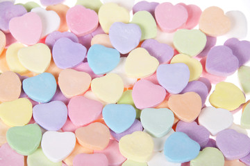 close up candy hearts for your sweetheart. Blank no message
