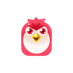 Angry Pink Chick Square Icon