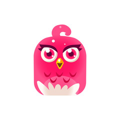 Pink Girly Chick Square Icon