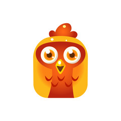 Orange Chicken Chick Square Icon