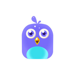 Blue  Chick Square Icon