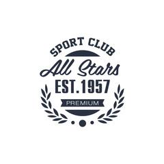 Classic Sport Label All Stars
