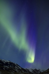 Beautiful aurora borealis northern lights in Iceland