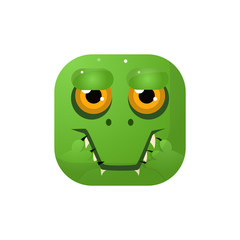 Crocodile Square Icon