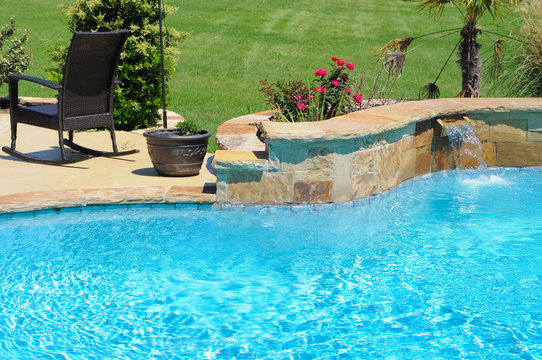 Beautiful backyard swimming pool