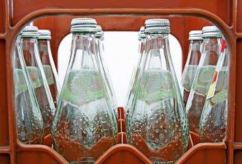 Mehrwegflaschen im Getränkekasten