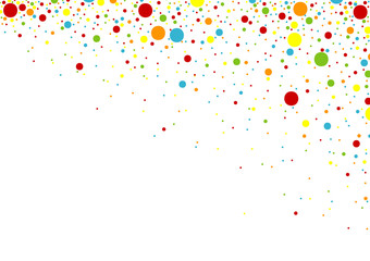 Confetti Background - Small Colorful Dots Illustration, Vector