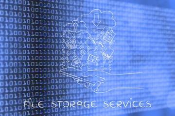 cloud uploads & downloads from mobile, file storage services