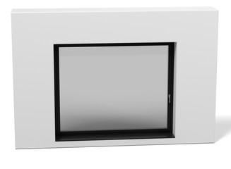 3d rendering of modern window