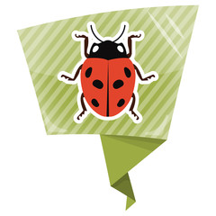 Ladybug colorful icon