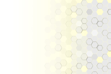Hexagonal 3d abstract background