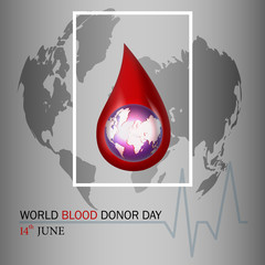World blood donor day illustration