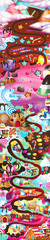 Game Candy map. Candy land. Illustration.