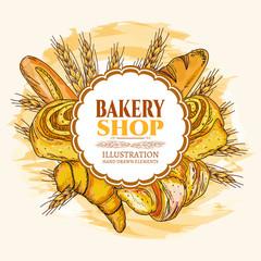 Bakery shop fresh bread