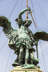 Statue of Saint Michael  in Rome