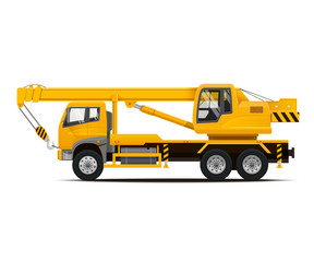 Mobile Crane. High Detailed Vector illustration.