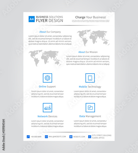 leaflet layout vector illustration advertising ad advert graphic
