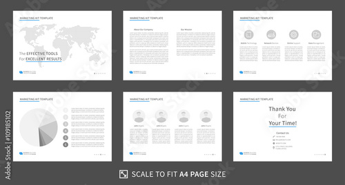 marketing kit presentation vector template. modern business, Templates