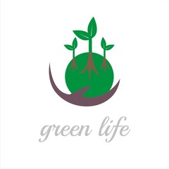 green life treatment logo template