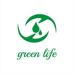 green life treatment logo template