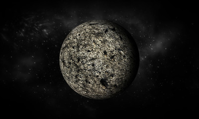 3D-rendering of Moon.Extremely detailed image including elements