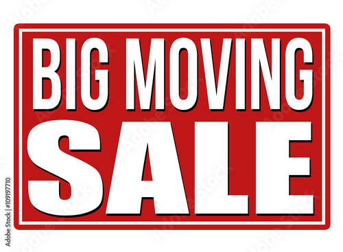 moving sale banner or label stock image and royalty free vector
