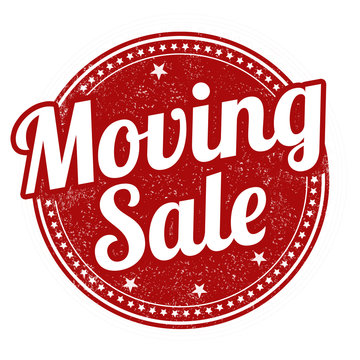 Moving sale stamp