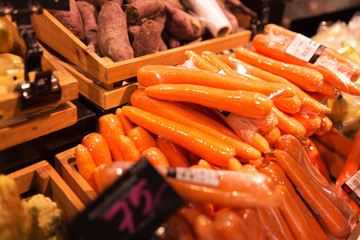 Fresh Carrot in market place