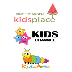 Children Places Vector Logo Template