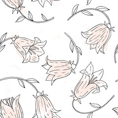 floral seamless pattern with bell flowers
