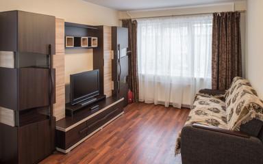 Interior in modern flat.