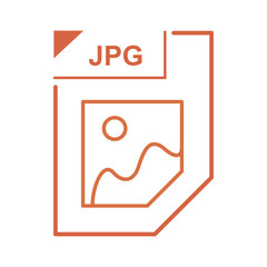 JPG file icon, cartoon style