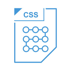 CSS file icon, cartoon style