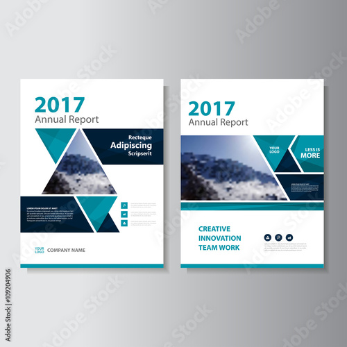 Creative Book Design Template ~ Quot triangle green business proposal leaflet brochure flyer