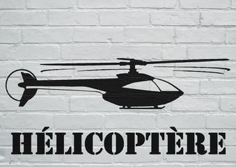 Art urbain, hélicoptère.