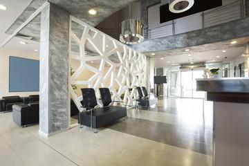 Aluminium Prints Airport Modern luxury hotel lobby interior
