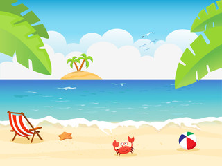 Summer Background Illustration