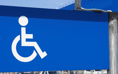 Parking for disabled persons sign